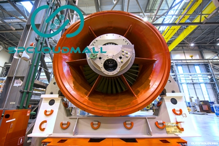 Siemens GTE-160 turbine with complex air cleaner unit Generator SGen5-100A-2P